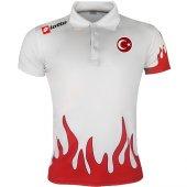 Lotto Polo Tshirt White Milli Takım R0294
