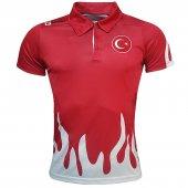 Lotto Polo T Shirt Red Milli Takım R0305