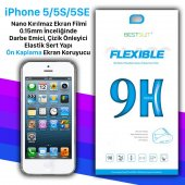 Bestsuit Iphone 5 5s 5se Nano Kırılmaz Cam Ekran Koruyucu Kılıf