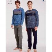 Us Polo 17507 Erkek Yuvarlak Yaka Pijama Takım
