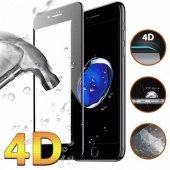 Apple İphone 8 Plus 4d Hd Crystal Oval Kavisli Ekran Koruyucu Kırılmaz Cam +şeffaf Silikon Kılıf