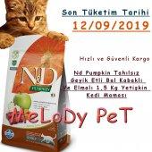 N&d Tahılsız Geyik Etli Bal Kabaklı Ve Elmalı Kedi Maması 1,5 Kg