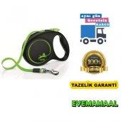 Flexi Limited Edition 5 Mt Şerit Yeşil Köpek Gezdirme Tasması
