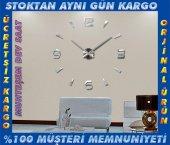 3d Büyük Duvar Saati Farklı Tasarım Görünüm Ofis Ev Dev Saat 70