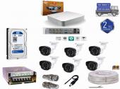 8 Kanal Dvr Cihazı+6 Cn 2022 Fullhd Kamera 1 Tb Hdd' Li Full Set