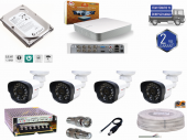 4 Kanal Dvr Cihazı+ 4 Cn 2022 Fullhd Kamera Full Set