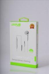 Mikrofonlu Kulaklık Seti Beyaz Tekli Yaylı Jp