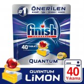 Finish Quantum 40 Tablet Bulaşık Makinesi Deterjanı Limon