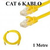 Cat 6 Patc Ethernet Kablo 23awg Fabrikasyon 1 Metre Sarı