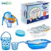 Babyjem Bebe Lüx Banyo Küvet Seti 6 Parça Mavi