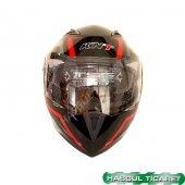 Knt 105 Vizörlü Motosiklet N88 Siyah Kask