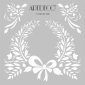 Artdeco Stencil Organik 30x30cm St126