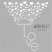 Artdeco Stencil Aşk Şemsiye 30x30cm St103