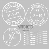 Artdeco Stencil Italy Posta 30x30cm St114