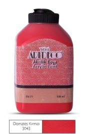 Artdeco 500ml 3043 Domates Kırmızı Yeni Formül Akrilik Boya
