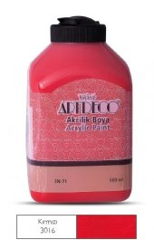 Artdeco 500ml 3016 Kırmızı Yeni Formül Akrilik Boya