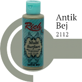 Rich Multi Surface 2112 Antik Bej Akrilik Boya 130cc