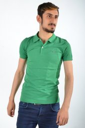 Polo Yaka Koyu Yeşil Tshirt