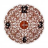 Dekoratif Lazer Kesim Desenli Ahşap Duvar Saati