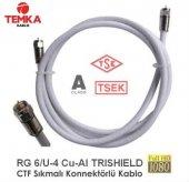 Temka Rg6u4 Sıkmalı Konnektörlü Anten Kablosu 40metre