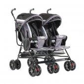 Babyhope Bh 610 İkiz Baston Bebek Arabası