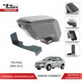 Bylizard Fiat Palio 2002 2012 Delmesiz Çelik Ayaklı Armor 2 Kolçak Kol Dayama Gri