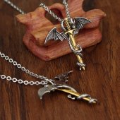 Game Of Thrones Dragon Punk Pterosaur Ejderha Gümüş Kılıç Kolye G