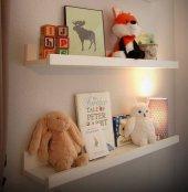 Ceebebek Ahşap Duvar Raf Bebek Çocuk Odası Montessori Beyaz Kitaplık 2byzl40 Ücretsiz Kargo