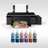 Epson L805 Photoink 6 Renk Bitmeyen Kartuşlu (1 Sayfa Renkli Baskı 0,01 Tl)