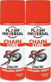 2li Set Flash Universal Zincir Yağlama Spreyi 200ml
