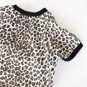 Leopar Desenli Oval Yaka Tişört Summer T By Kemique Kedi Kıyafe