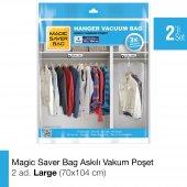 Magıc Saver Bag 2li Askılı Vakumlu Poşet Large
