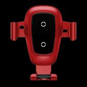 Baseus İphone 8 Gravity Metal Wireless Araç Şarj Cihazı Kırmızı