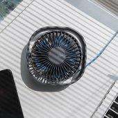 Baseus Flickering Masaüstü Mini Fan Soğutucu Serinletici Siyah