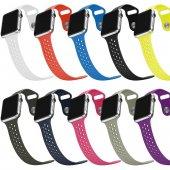 Apple Watch Spor Kordon 38mm Nike Tipi Delikli Tek Renk