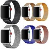 Apple Watch Hasır Çelik Kordon 42mm Milano Loop Mıknatıslı