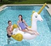 Plaj Topu Hediye Bestway Mega Tutmalı Pegasus Unicorn Deniz Yatağı 220 Cm X 195 Cm, Bestway 41107