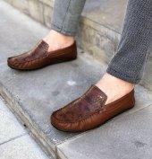 Lfg Kahverengi Damla Desenli Günlük Ayakkabı