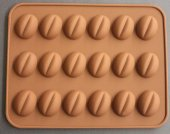 Kahve Çekirdeği Silikon Çikolata Kalıbı 18li