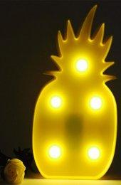 Ananas Şeklinde Ledli Dekoratif Masa Ve Duvar Lambası