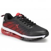Kinetix Palmer Erkek Siyah Kırmızı Gumus Günlük Sneaker