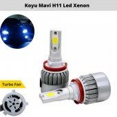 şimşek Etkili Deli Mavi Led Xenon H11 (30000lm)