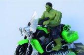Sesli, Işıklı Çarp Dön Sensörlü Motosikleti İle Marvel Avengers Titan Hero Hulk