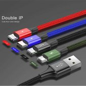 Baseus Fast 4 İn 1 Cable Lightning (2)+micro+type C 3.5a 1.2m