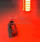 P21w 1157 9w Çift Duy Şaşı Led Ampul Kırmızı Mercekli 2835 Chip