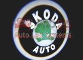 Skoda Araçlar İçin Pilli Yapıştırmalı Kapı Altı Led Logo