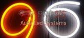 Flexible Neon Çift Kanallı Led 60cm Beyaz Sarı Sinyal Modüllü