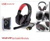 Wave Op338 Siyah 5.1 Channel Kafa Bantlı Mikrofonl...