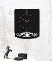 Su Damlası Ahşap Saat