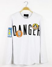 Plus Eighteen Stikers Danger Erkek Sweatshirt